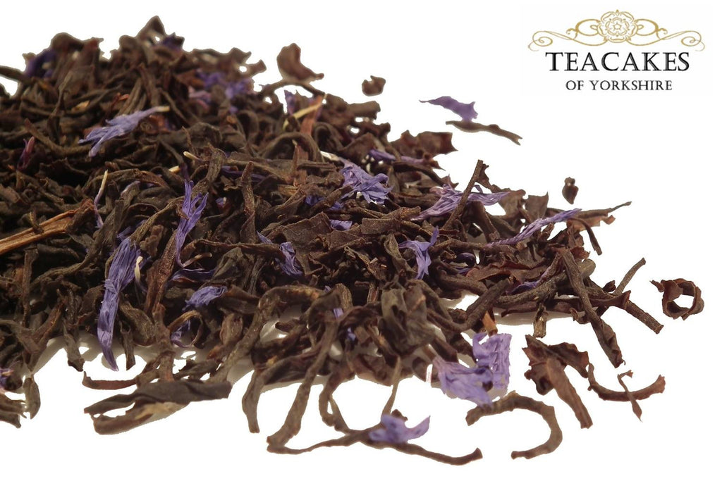 Black Loose Leaf Tea Blue Sapphire 100g Flavoured - TeaCakes of Yorkshire