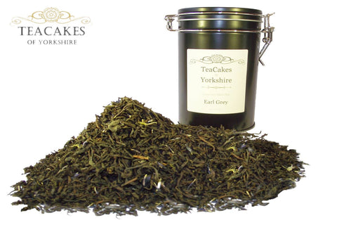 Earl Grey Tea Gift Caddy Black Flavoured Leaf 100g - TeaCakes of Yorkshire