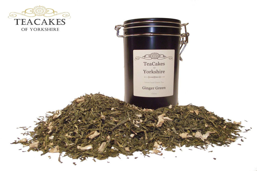 Ginger Green Tea Gift Caddy Loose Leaf 100g - TeaCakes of Yorkshire