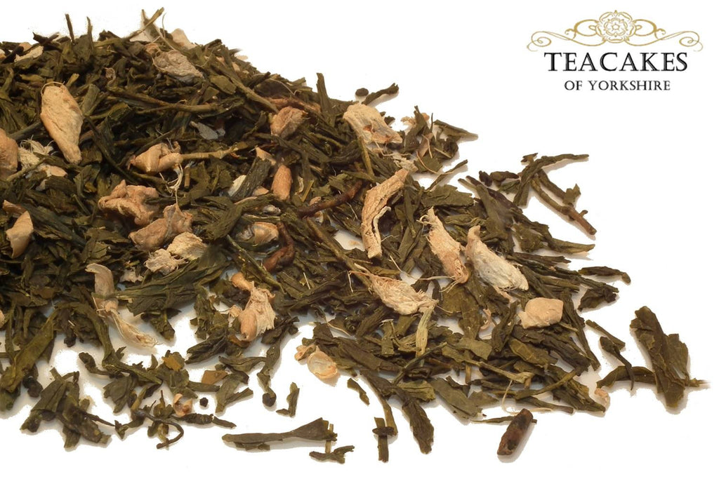 Green Loose Leaf Tea Ginger Loose Leaf 100g - TeaCakes of Yorkshire