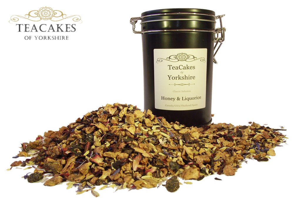 Honey & Liquorice Tea Gift Caddy Herbal Tisane 100g - TeaCakes of Yorkshire