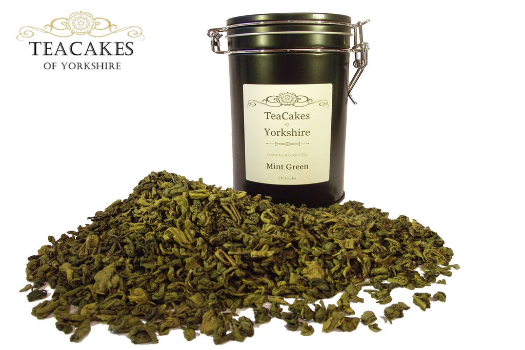 Mint Green Tea Gift Caddy Green Loose Leaf 100g - TeaCakes of Yorkshire