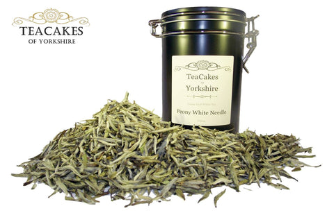 Peony White Needle Tea Gift Caddy Loose Leaf 50g - TeaCakes of Yorkshire
