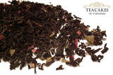 Rose Tea Gift Caddy Black Aromatic Loose Leaf 100g - TeaCakes of Yorkshire