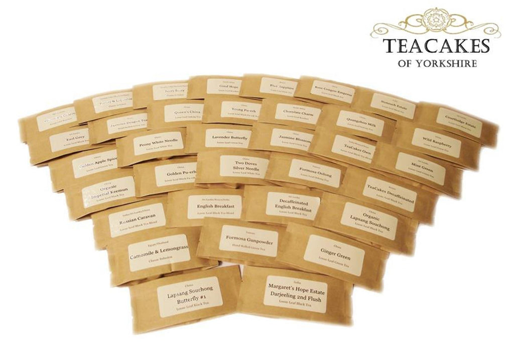 Samples Tasters Variety Pack Loose Leaf Tea 34 x 10g - TeaCakes of Yorkshire