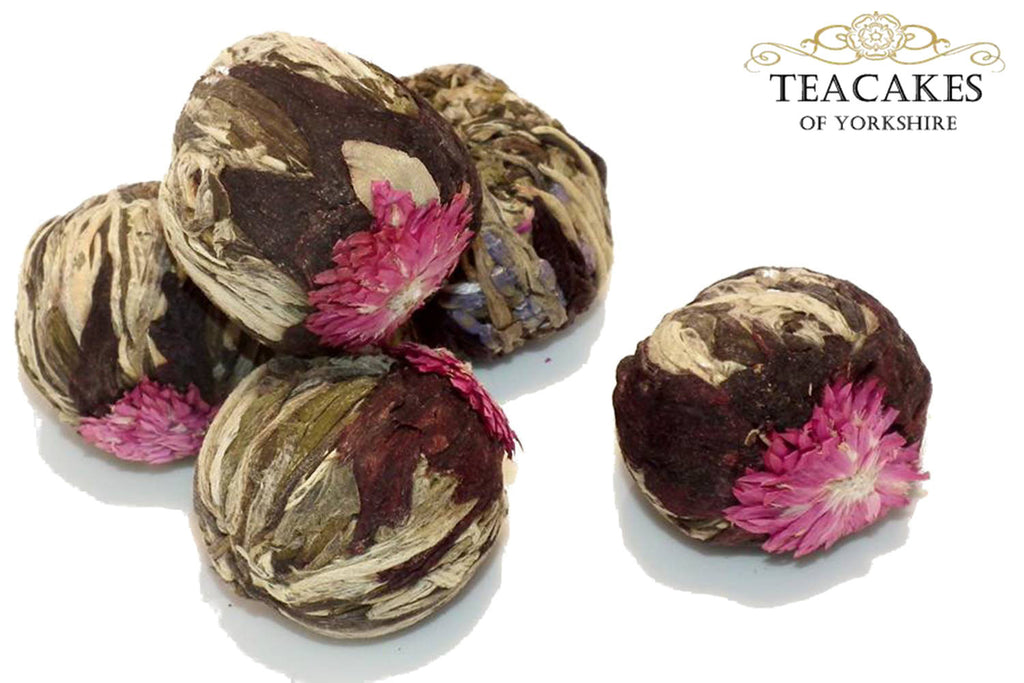 Volcano Flower Burst Flowering Artisan 6 Green Tea balls - TeaCakes of Yorkshire