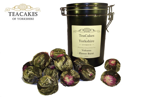 Artisan Tea Balls Gift Caddy Flowering Volcano Burst x 15 - TeaCakes of Yorkshire