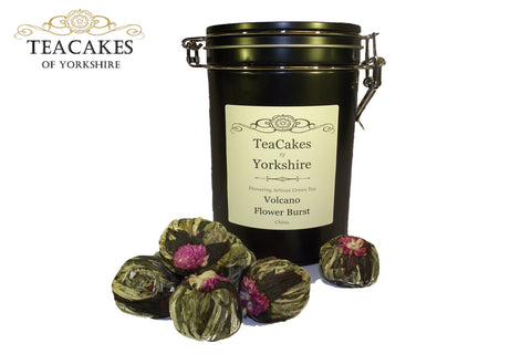 Artisan Tea Balls Gift Caddy Flowering Volcano Burst x 6 - TeaCakes of Yorkshire