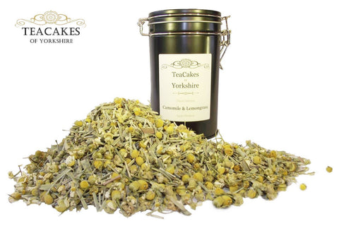 Camomile & Lemongrass 50g Gift Caddy Herbal Infusion - TeaCakes of Yorkshire