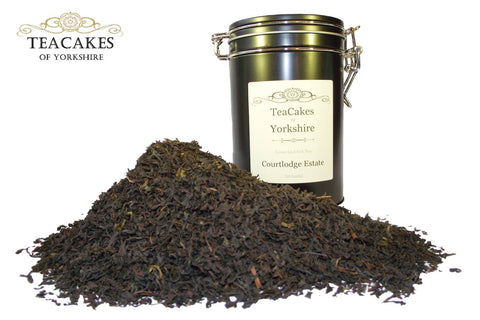 Courtlodge Single Estate Tea Gift Caddy Black Loose Leaf 100g - TeaCakes of Yorkshire