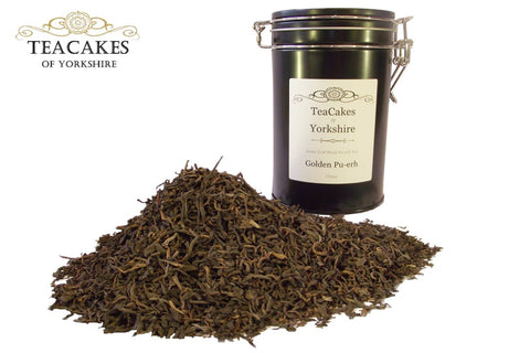 Golden Pu-erh Tea Gift Caddy Loose Leaf 5yrs 100g - TeaCakes of Yorkshire