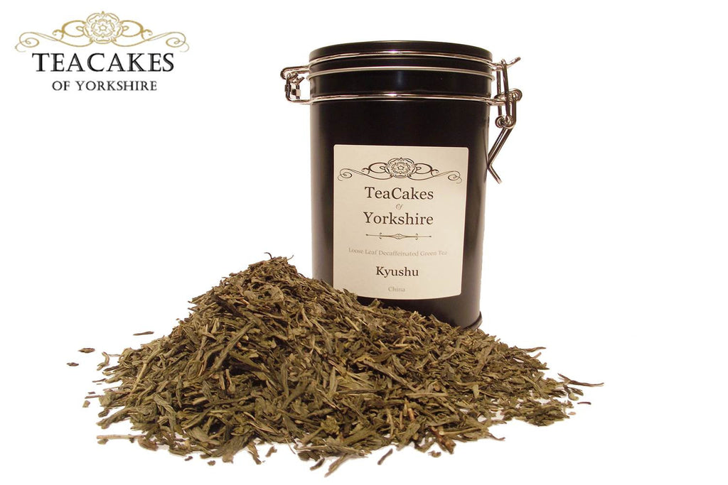 Decaffeinated Green Tea Kyushu Sencha 100g Gift Caddy - TeaCakes of Yorkshire