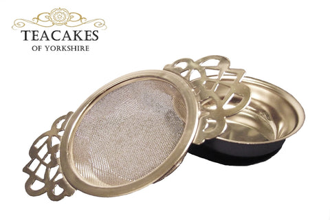 Tea Strainer Sieve Infuser Traditional Empress Style S/S 18/10  (£9.50  inc VAT) - TeaCakes of Yorkshire