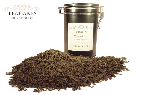 Young Pu-erh Tea Gift Caddy Loose Leaf 100g - TeaCakes of Yorkshire