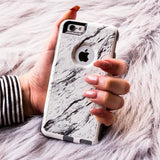 iPhone 6 Case White Hybrid Calacatta Marble by Unnito