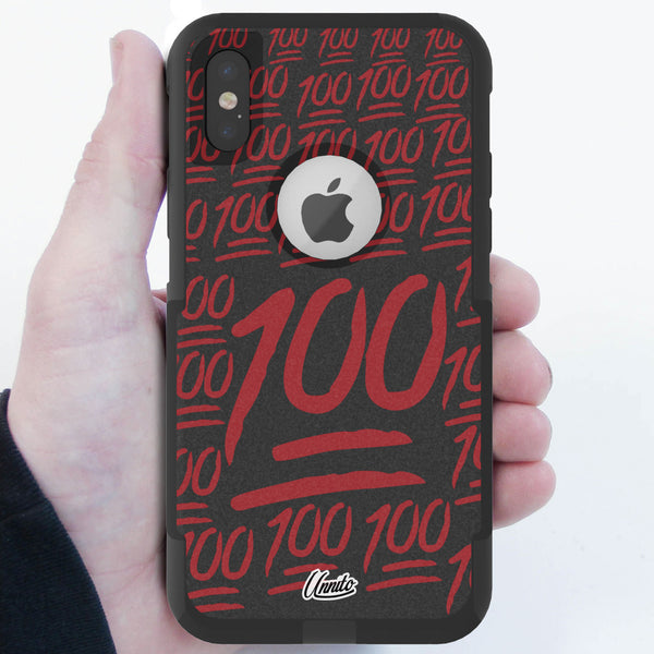 100 Emoji Hybrid Case for iPhone - Black Case
