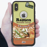 Ramen Soup Hybrid Case for iPhone - Black Case