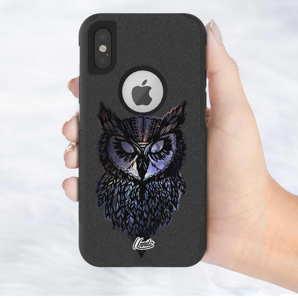 Nebula Owl Hybrid Case for iPhone - Black Case
