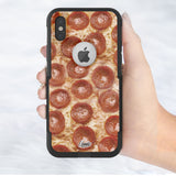 Pizza Hybrid Case for iPhone - Black Case