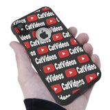 Cat Videos Hybrid Case for iPhone - Black Case