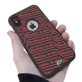 Nothin To do Hybrid Case for iPhone - Black Case
