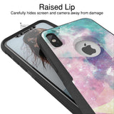 Nebula Pastel Hybrid Case for iPhone - Black Case