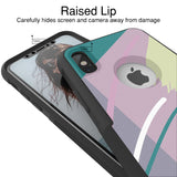 Fresh Pastel Hybrid Case for iPhone - Black Case