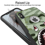 Shark Bomber Camo Hybrid Case for iPhone - Black Case