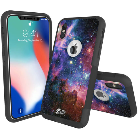 Galaxy Nebula Hybrid Case for iPhone - Black Case