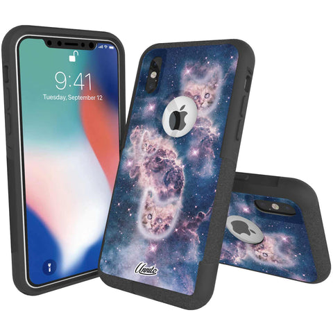 Nebula Cat Hybrid Case for iPhone - Black Case