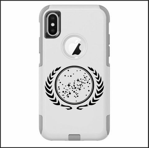 iPhone X Case White Hybrid United Federation of Planets