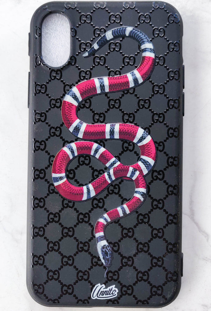 buy online ddfc1 32a3f Gucci Snake 3D Case for iPhone
