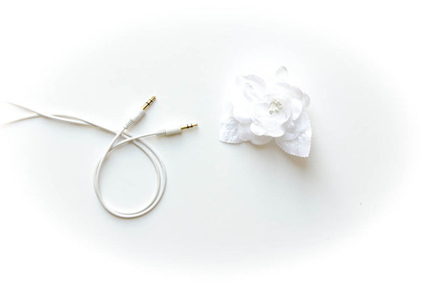 Auxillary Cable 3ft Gold Tip - White