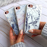 iPhone 7 Clear Case Marble Slab - Crusader 3