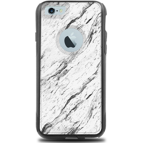 iPhone 6 Case Black Hybrid Calacatta Marble by Unnito