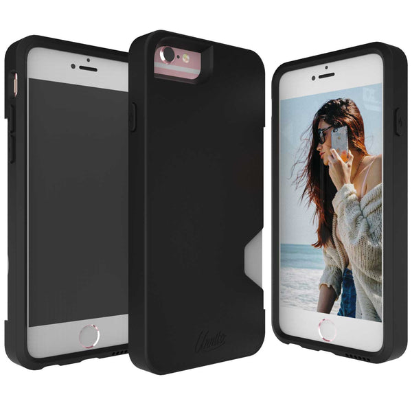 iPhone 6 Wallet Case, iPhone 6S Card Case Unnito CardTender™ Case, [Dual Layer] Protective - Black/Black