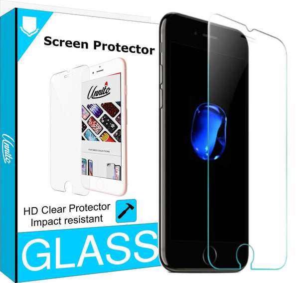Unnito iPhone 7 PLUS Tempered Glass Screen protector (HD - Clear)