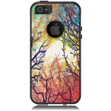 iPhone 5 Case Black Hybrid Woodland Tree Sunrise by Unnito