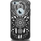 iPhone 6 PLUS Case Black Hybrid Henna Dreamcatcher Birds by Unnito