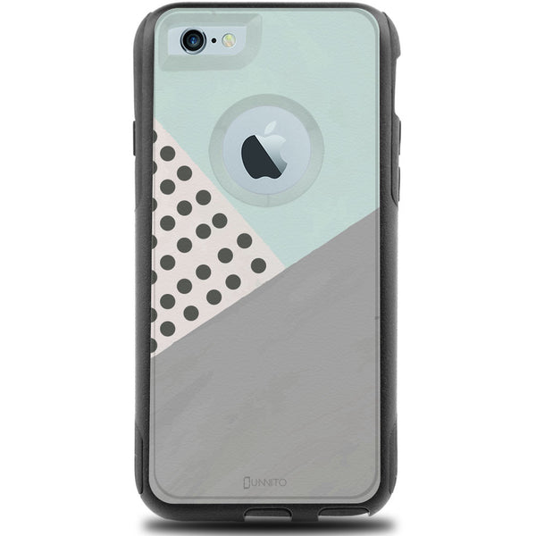 iPhone 6 Case Black Hybrid Geometric Mint Polka Dots by Unnito