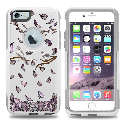 iPhone 6 Case White Hybrid Birds In Fall by Unnito