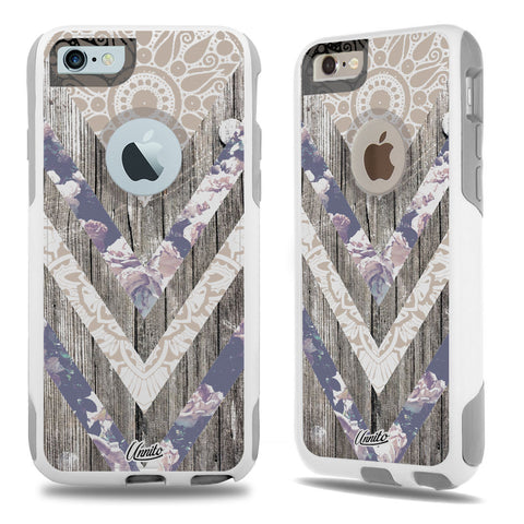 iPhone 6 Case White Hybrid Bohemian Wood by Unnito