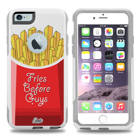 iPhone 6 Case White Hybrid Fries before Guys by Unnito