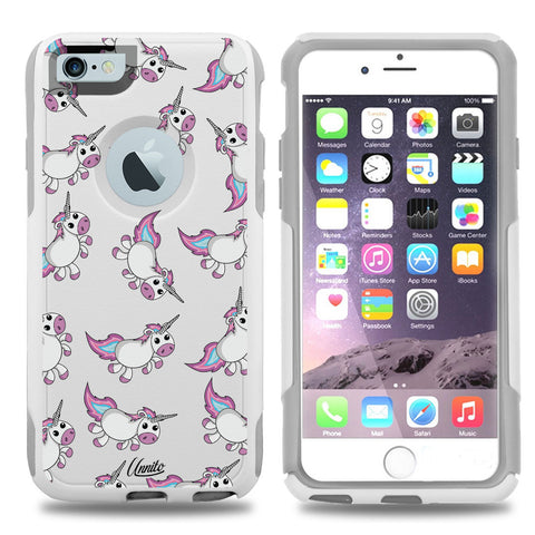 iPhone 6 Case White Hybrid Turbo Unicorn by Unnito