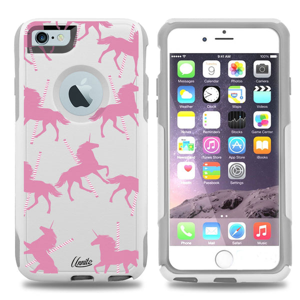 iPhone 6 PLUS Case White Hybrid Unicorn Carousel by Unnito