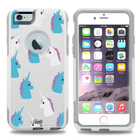 iPhone 6 Case White Hybrid Unicorns by Unnito