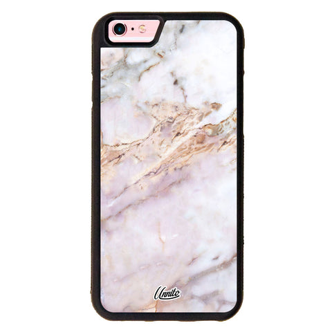 iPhone 6 Black Case Marble Stone - Crusader