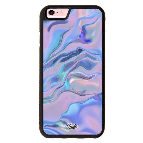 iPhone 6 Black Case Violet Waves - Crusader Series