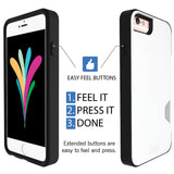 iPhone 6 Wallet Case, iPhone 6S Card Case Unnito CardTender Case, [Dual Layer] Protective [Custom] - Black/White