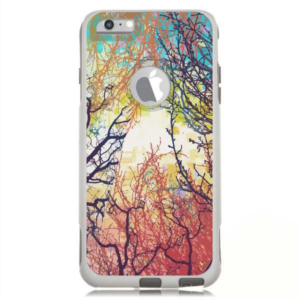 iPhone 6 Case White Hybrid Woodland Tree Sunrise By Unnito